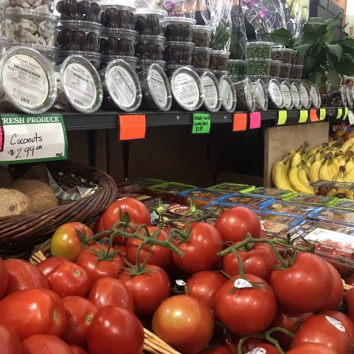 Produce section at Comptons